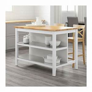 STENSTORP Kitchen Island Whiteoak 126x79 Cm IKEA