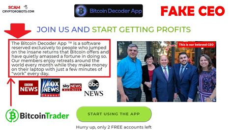 Wondering if something involving cryptocurrency is a scam? Bitcoin Decoder App Scam Review | Scam Crypto Robots
