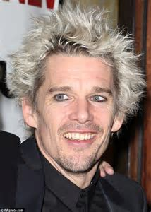 Ethan Hawke channels Billy Idol as he shows off his newly