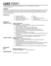 Commercial Finance Manager Resume by Finance Resume Exles Berathen