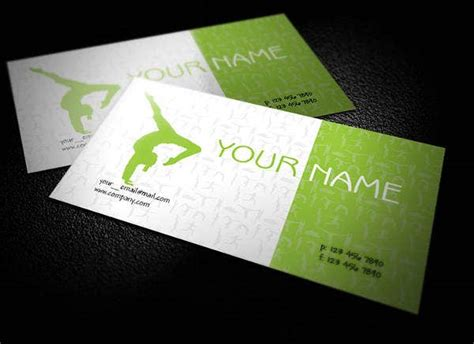 yoga business card templates psd word publisher