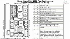 Nissan Altima  2002-2006  Fuse Box Diagrams