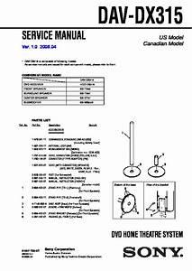 Sony Dav-dx315 Service Manual