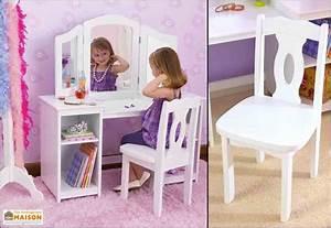 Coiffeuse Pour Chambre : coiffeuse en bois blanc pour enfant design contemporain kidkraft ~ Teatrodelosmanantiales.com Idées de Décoration