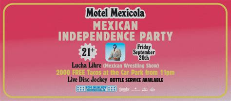 MOTEL MEXICOLA MEXICAN INDEPENDENCE PARTY! - City Nomads