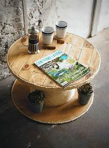 Customiser Une Table En Bois : touret bois table basse good table basse recup touret ~ Dailycaller-alerts.com Idées de Décoration