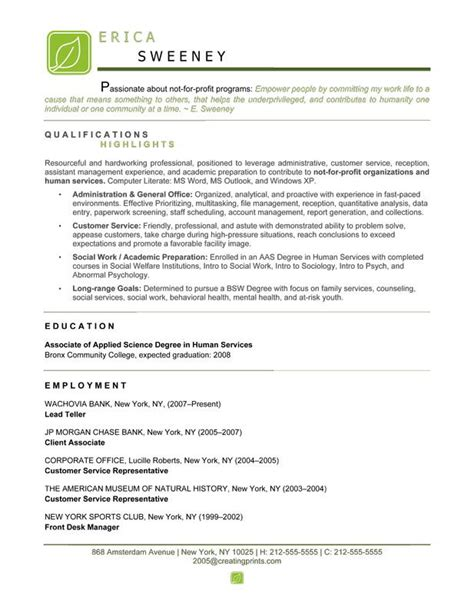non profit resume writer