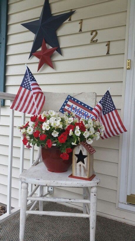 Diy July Outdoor Decorations For Front Porches Party