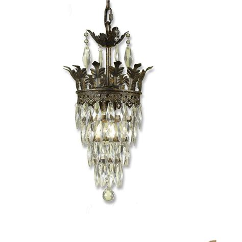 Mini Chandeliers by Af Lighting Sovereign 1 Light Antique Gold Mini Chandelier