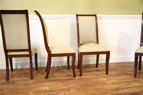 set   solid mahogany transitional dining room chairs sale