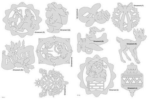 wood christmas patterns outdoor downloadable christmas ornament pattern pack scrollsaw com