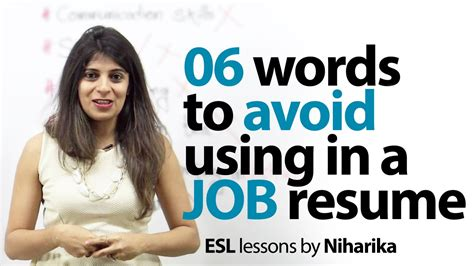 06 words to avoid in a resume skills