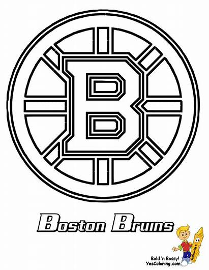 Hockey Coloring Nhl Pages Bruins Boston Teams