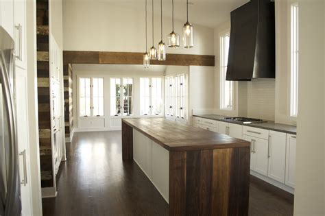 Retro Kitchen Design With Unfinished Wooden Base Cabinet