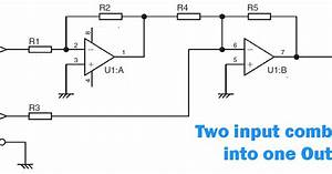 Combine Stereo Input To One Output