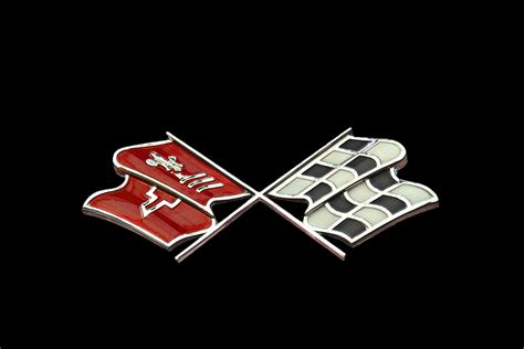 Evolution Of The Corvette And The Crossed Flags Logo