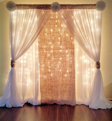 30 Most Popular Wedding Backdrops With Lights Design Ideas