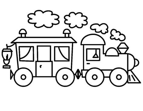 Coloring Kereta Api by Mewarnai Gambar Kereta Api Sederhana Untuk Anak
