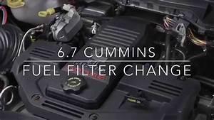 6 7 Cummins Fuel Filter Change Dodge Ram 2500    3500