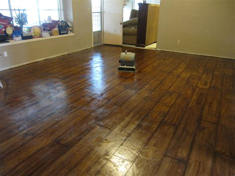 rustic wood floor l concrete stained to look like wood floor that i want