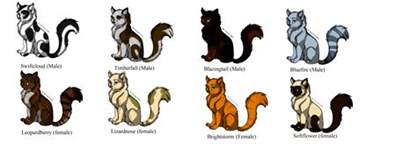warrior cats names free warrior cat breedables by 20 on deviantart