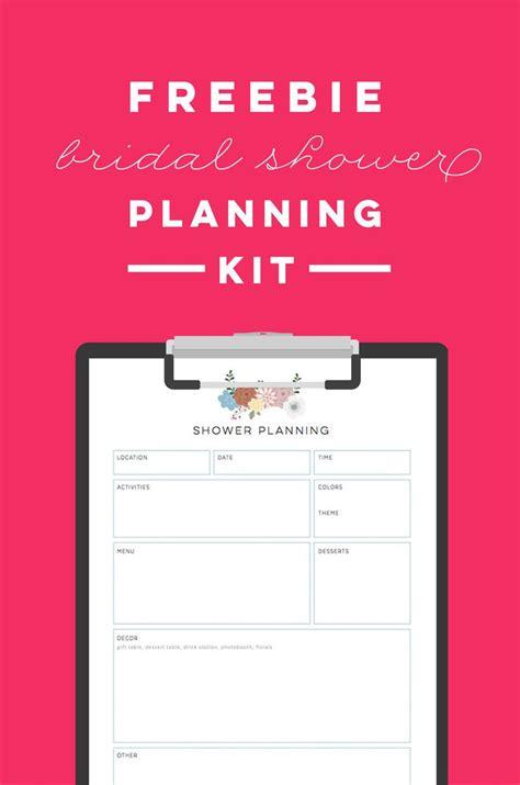 printable bridal shower planning kit   list