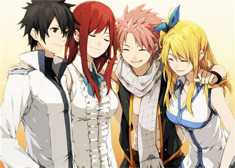 anime series fairy tail characters friend smile girls boys