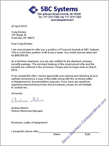 business letters employment job letter business letter