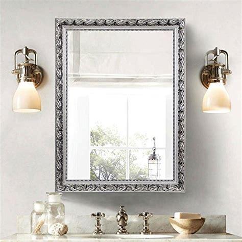 Silver Bathroom Mirror Rectangular by Durable Modeling Large Makeup Vanity Wall Mirror Hans