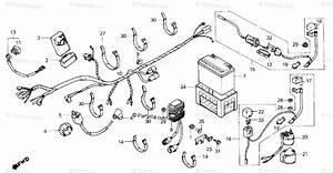 Honda Atv 1986 Oem Parts Diagram For Wire Harness    Battery