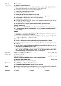 curriculum vitae reference exles cv timcoles info