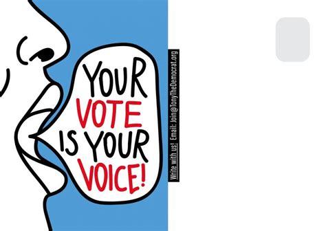 vote   voice  images unique postcards