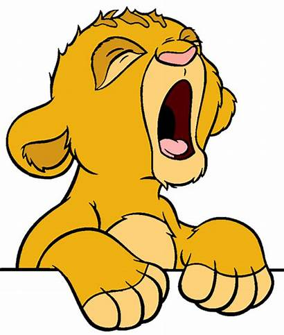 Simba Lion King Clipart Face Drawings Clip