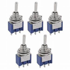 5 Pcs Ac On  Off  On Spdt 3 Position Micro