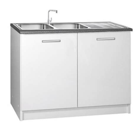 meuble cuisine avec evier integre meuble de cuisine 2 portes sous 233 vier 120 cm tara laqu 233