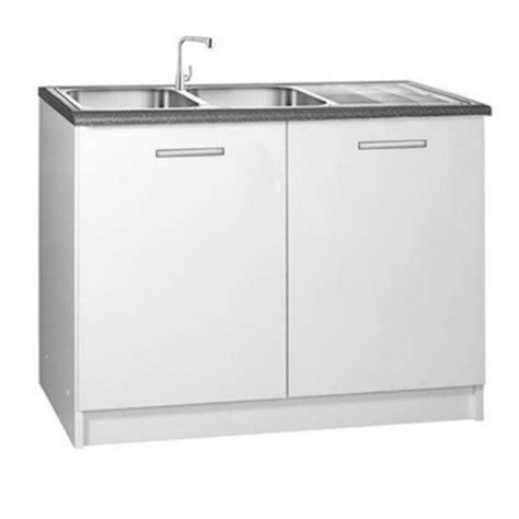 meuble cuisine sous evier meuble de cuisine 2 portes sous évier 120 cm tara laqué