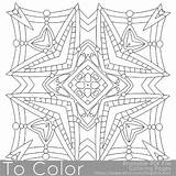 Mandala Coloring Pages Square Printable Pdf Pattern Adults Sheets Etsy Sheet Easy Books Stars Printables Getdrawings Drawing Instant sketch template