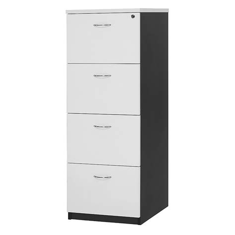Chill 4 Drawer Filing Cabinet, Melamine  Fast Office