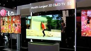 LG Displays World's Largest OLED 3D TV at CES - YouTube