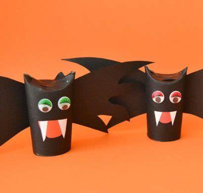 basteln mit klorollen zu halloween  super einfache