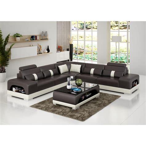 canape d angle cuir grand canapé d 39 angle en cuir lyon pop design fr