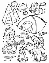 Camping Coloring sketch template