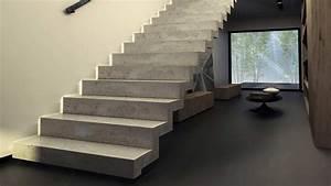 escalier en beton comment le nettoyer et l39entretenir With escalier beton interieur design