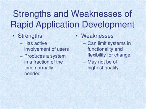 Strength And Weakness In Application by Ppt Contemporary Information Systems Development Powerpoint Presentation Id 178146
