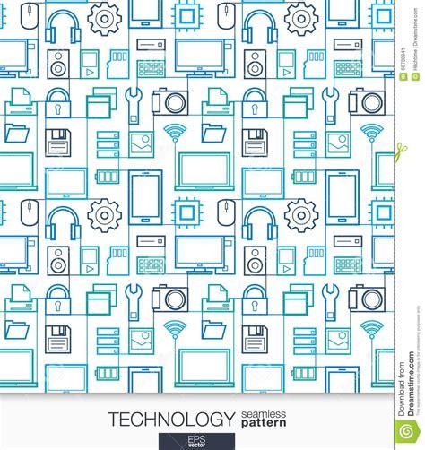 technology wallpaper digital seamless pattern cartoon