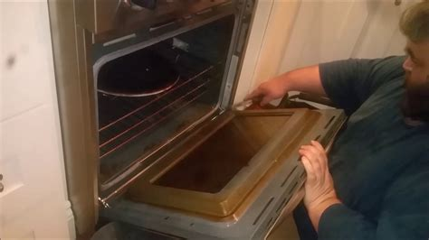 kitchen aid oven door reinstall  removal  cleaning