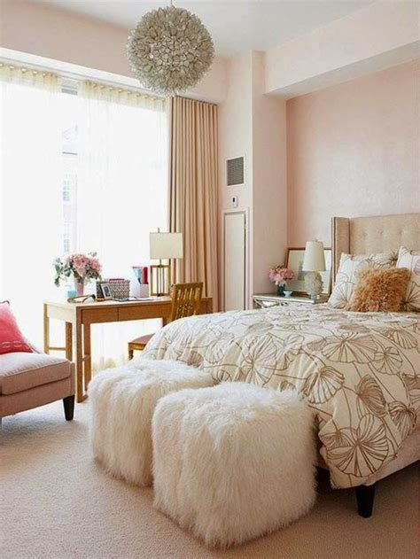 champagne rose gold bedroom  girls women bedrooms