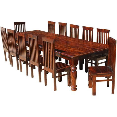 big dining room tables clermont 130 quot rustic solid wood rectangular large dining