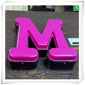 acrylic vacuum forming thick plastic led letter light box With vacuum formed letters