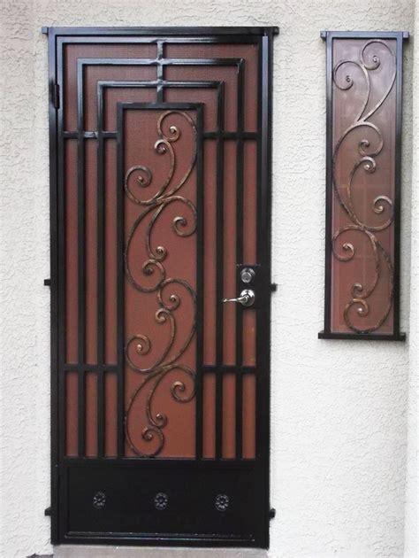 wrought iron security doors security doors artistic iron works ornamental wrought